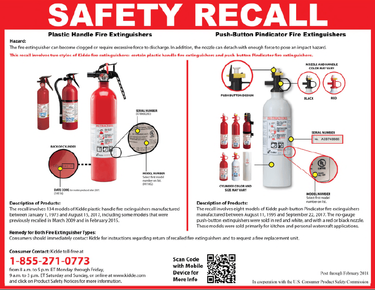 Fire Extinguisher Safety Recall