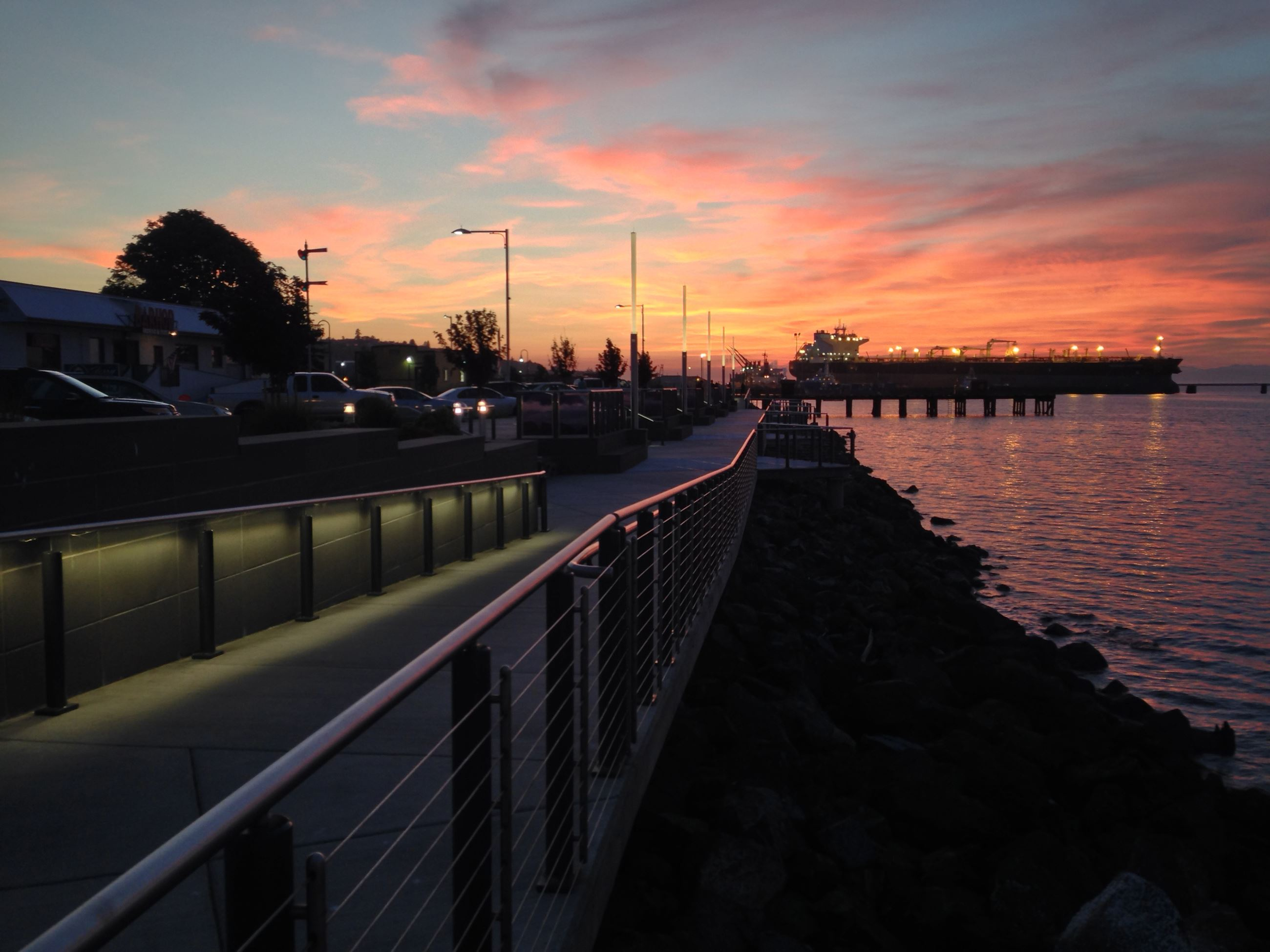 Image of Waterfront Sunset