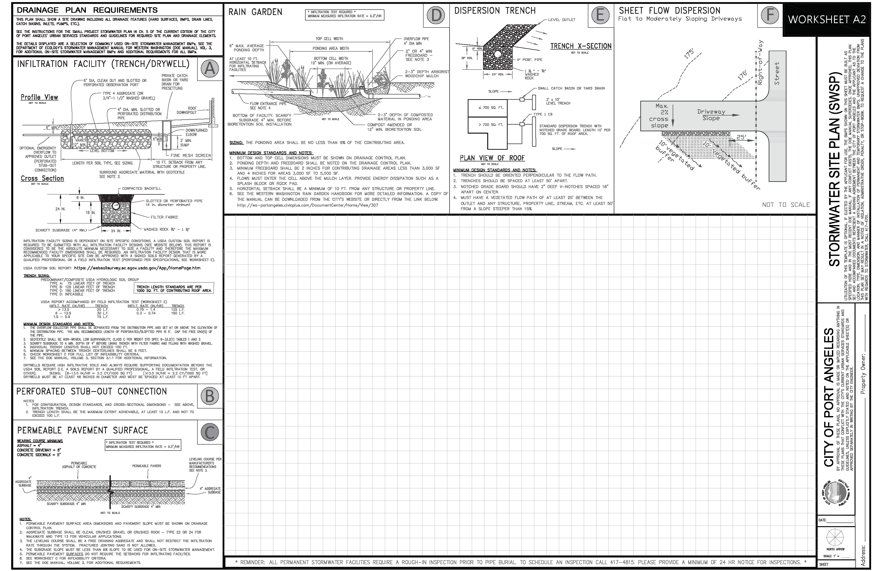 Worksheet A 2 Stormwater SITE PLAN