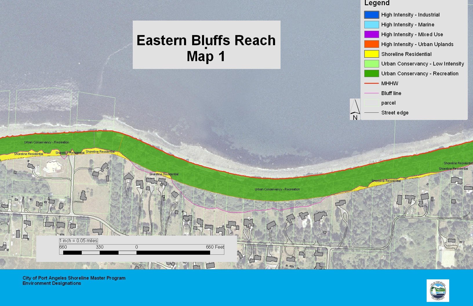 Eastern Bluffs Reach Map